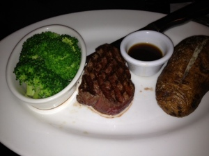 A recent steakhouse order for me, no sauces, no butter, no sour cream but a great filet mignon.