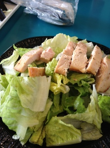 A McDonald's chicken salad