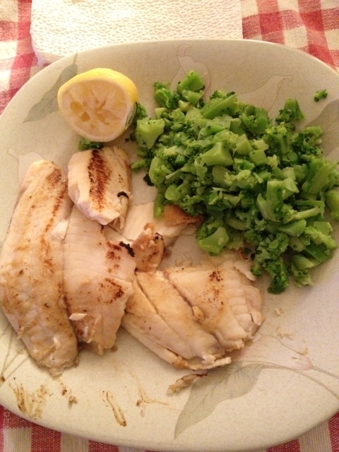 A simple tilapia dinner