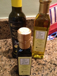 some of the amazing olive oil we brought back from Italy.