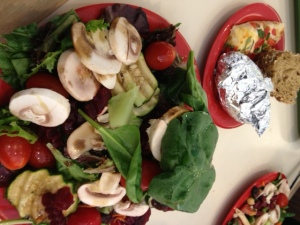 A recent first trip to the salad buffet for me at Sweet Tomatoes.
