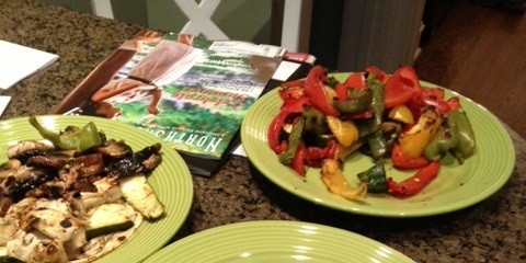 Grilled veggies can help fill you when you reach your lobster, chicken or beef limits.