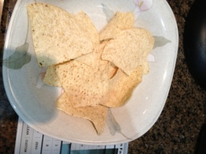 Here's what one ounce of tortilla chips looks like. Is it enough for you?