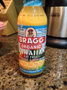 Bragg organic Hawaiian marinade, a dream product of you're going low-salt, low-fat, low-sugar/