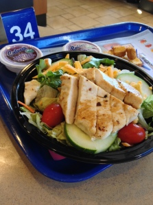 Restaurant salads are not good for you. Too much salt and sugar in dressings on on chicken like this Culver's salad.