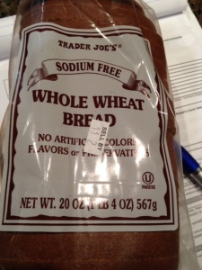 Trader Joe's sodium-free whole wheat bread.