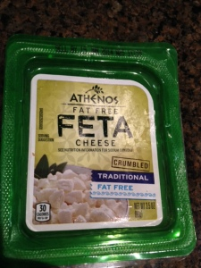 Fat-free feta works well on salads but beware the sodium, it's loaded.