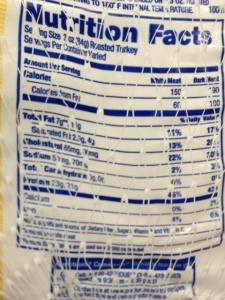 Here's a fresh turkey with 50-70 mgs of sodium per serving. Stick to fresh is you can to avoid more salt.