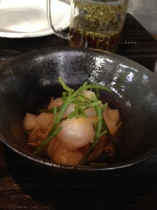 Our scallop appetizer was wonderful