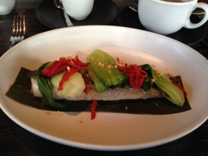 My wonderful sea bass at Embeya.