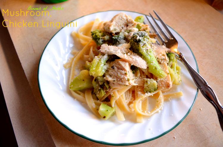 Mushroom, Chicken Linguini