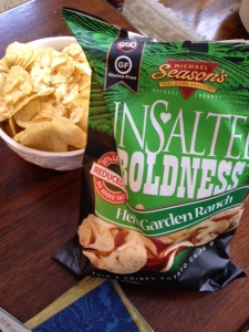 Michael Season's unsalted chips were very tasty.