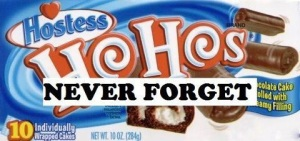 Once my favorites, Hostess HoHos are off my diet today, but I will never forget them.