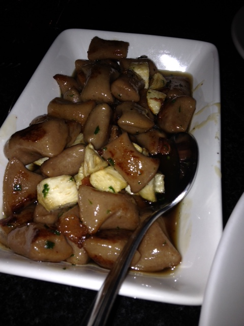 Chestnut gnocchi in a brown sugar and bacon sauce was amazing at 27 Live.