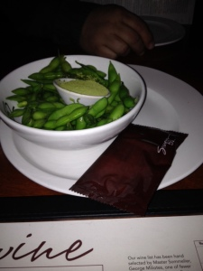 A tasty edamame appetizer at Seasons 52.