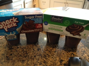 Fat free pudding or sugar-free pudding? Which would you pick?