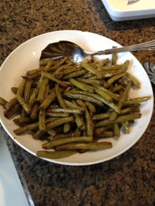 Green beans with balsamic vinegar and olive oil