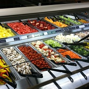 A typical selection at a Mariano's salad bar