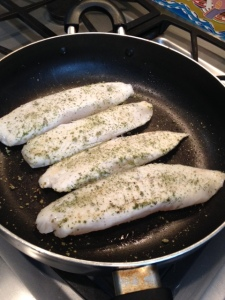Tilapia in the skillet