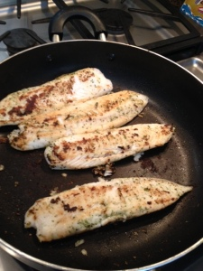Use some spray-on canola oil to cook your tilapia