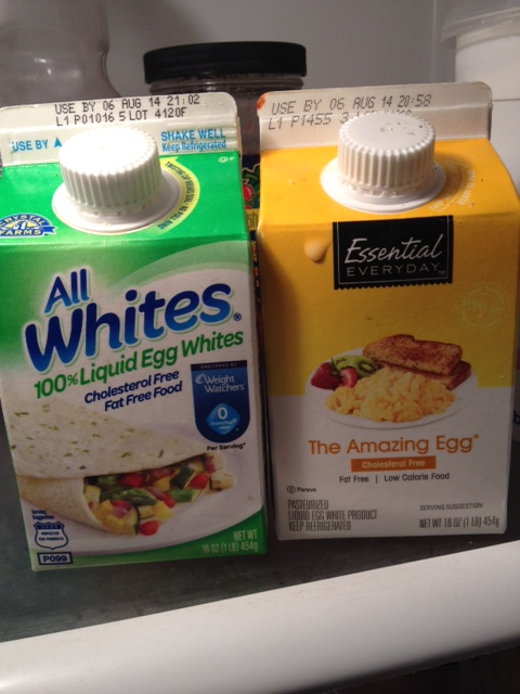 Check the ingredients before buying packaged egg whites. All brands are not the same.