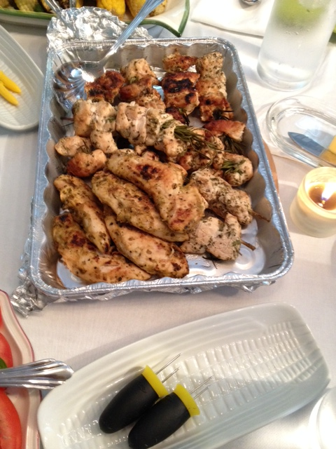 Chicken rosemary skewers were wonderfully flavorful and easy to make.