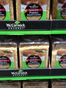 Costco has dropped a low-sodium brand of panko and now carries this from McCormick, an offering loaded with salt. Shame on you Costco.