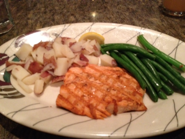 I had a wonderful salmon plate at Chinook's.
