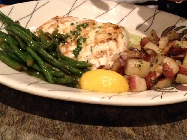 My wife had a delicious halibut plate at Chinook's.