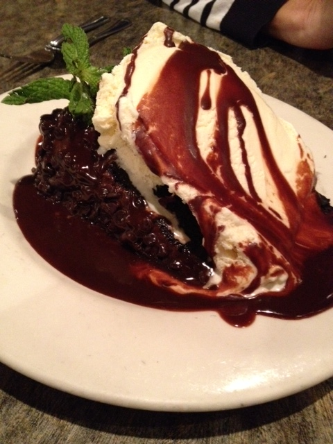 Chocolate cake at Chinook's