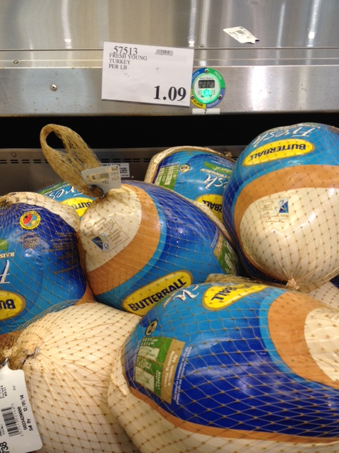 Costco has a great price of $1.09 a pound for fresh, low-sodium Butterball turkeys.