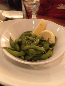 Our edamame at Crave was a nice appetizer.