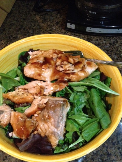 My wonderful salmon salad.