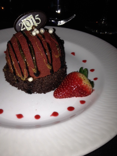 My wonderful chocolate dessert at the Orrington.