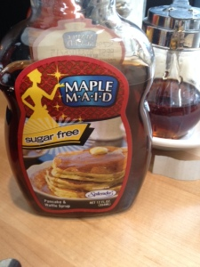 Check sodium content for any sugar-free syrup you use.