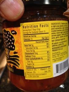 Desert Pepper salsa nutrition information