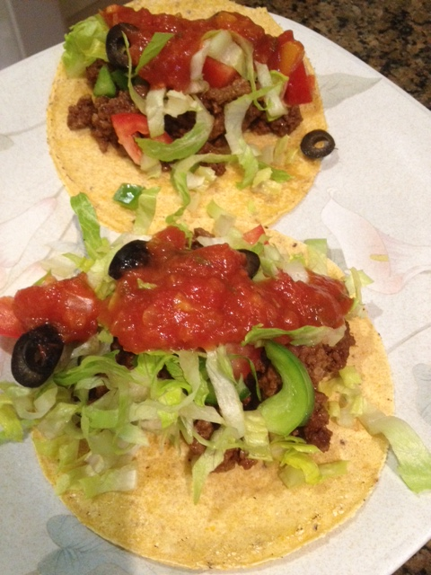 Use extra-lean ground beef and low-salt salsa, low-salt olives and low-salt tortillas.