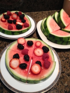 My version of a watermelon pizza.
