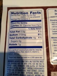 Kroger reduced sodium gravy nutrition info