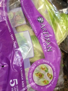 I created my lettuce taco with this variety from Costco, which advertises it's well-suited to use for wraps.