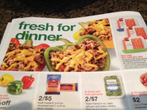 This recent Target add included 93% lean ground beef.