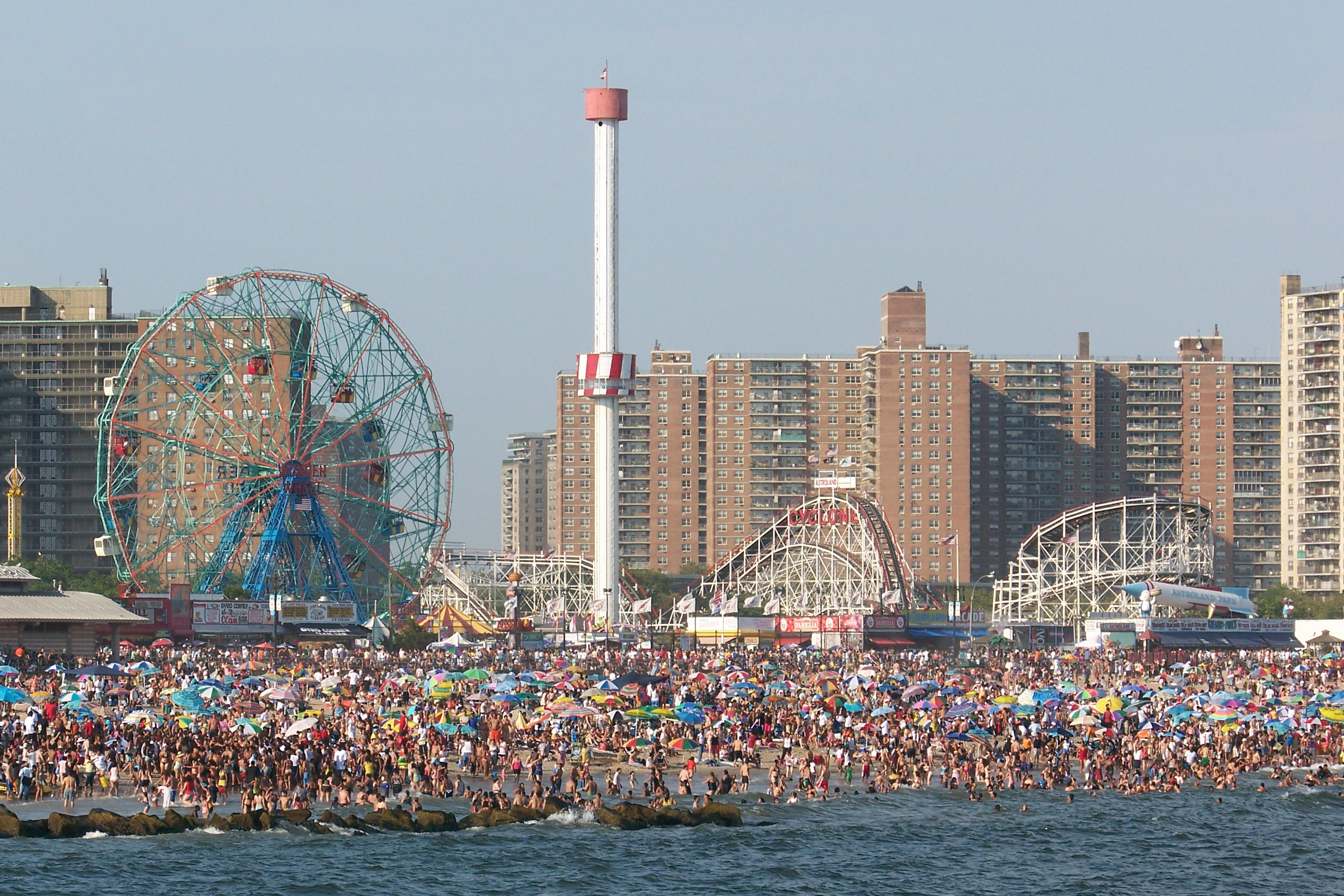 Coney Island Beach View From Water