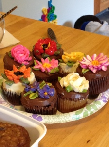 I brought the cupcakes for dessert. They were so tasty, I could have eaten all nine!