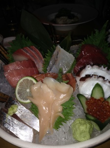 My wonderous birthday sashimi platter at Morimoto's.