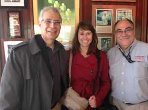 Lunch at Junior with my wife Carolyn, and wonderful friend Vic.