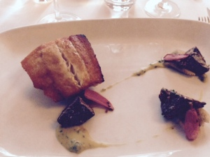 The sear was perfect, the plate wonderfully artistic.