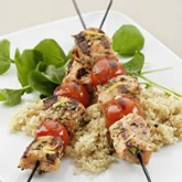 Jillian Michaels' grilled rosemary salmon skewers.