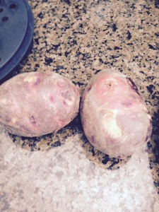 Purple potatoes can be turned into fat-free, salt-free chips in minutes.