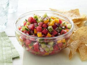 Watermelon salsa, check the Food Network link in my post for the recipe.