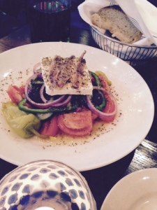 Kefi's Greek Village Salad, fresh and delicious.